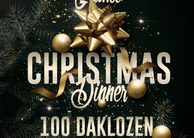 Grand Christmas dinner 100 daklozen