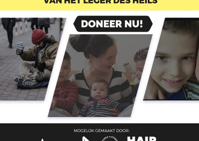 Homeless people, single mothers and children dinner in Nissewaard