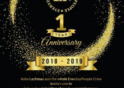 One year anniversary Everyday People
