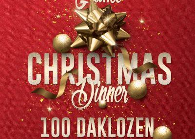 Grand Christmas dinner 100 daklozen 2018
