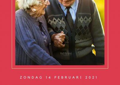 Valentijns actie 100 ouderen