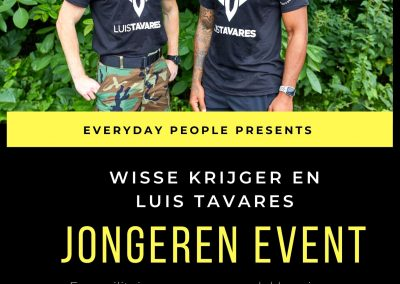 Jongeren event met Wisse Krijger en Luis Tavares