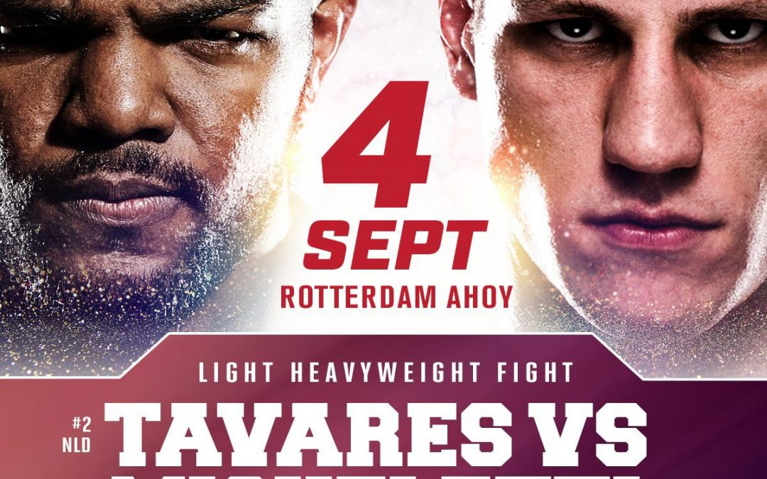 Op 4-9-2021 knokt onze ambassadeur Luis Tavares in Ahoy Rotterdam.